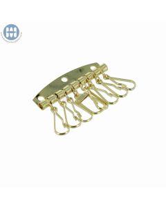800-11-8 Combo Keyplate with 7+1 hook Brass
