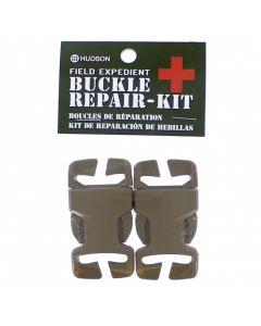 """2pc Repair Buckle 1"""" Fem & Male SB Tan"""