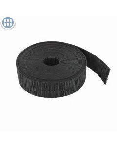 "1-1/2"" Heavy Polypropylene Webbing Black Roll"