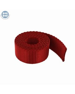"""Nylon Webbing Heavy 1"""" (25mm) 212 Red (By the roll)"""