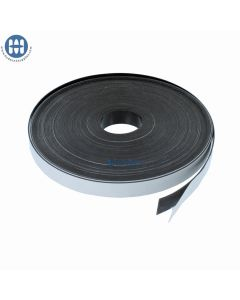 Roll of adhesive magnetic tape