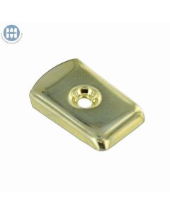 A-129 One Part Handle Plate Brass