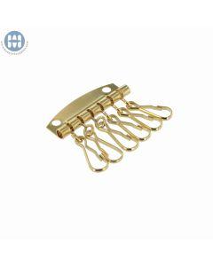 800-6E Key Plate with Six hooks Light Gold