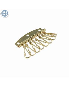 800-8 Key Plate with eight hooks Light Gold