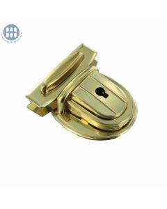 Amiet 2660 Tuck Lock with key Brass