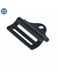 """ITW Double Bar Buckle 1"""" Steel Zinc Black 00648-09"""
