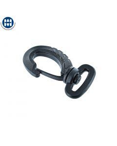 """Basic Oval Snap Hook 3/4"""" Black"""
